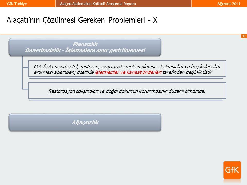 Alaçatı'nın Çözülmesi Gereken Problemleri - X