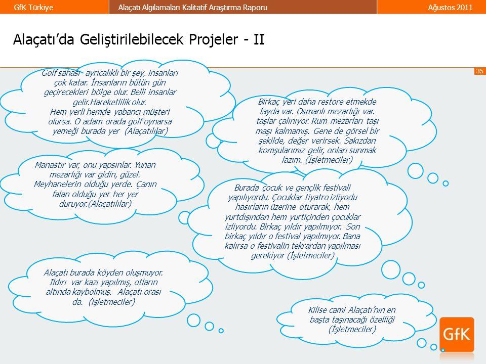 Alaçatı'da Geliştirilebilecek Projeler - II