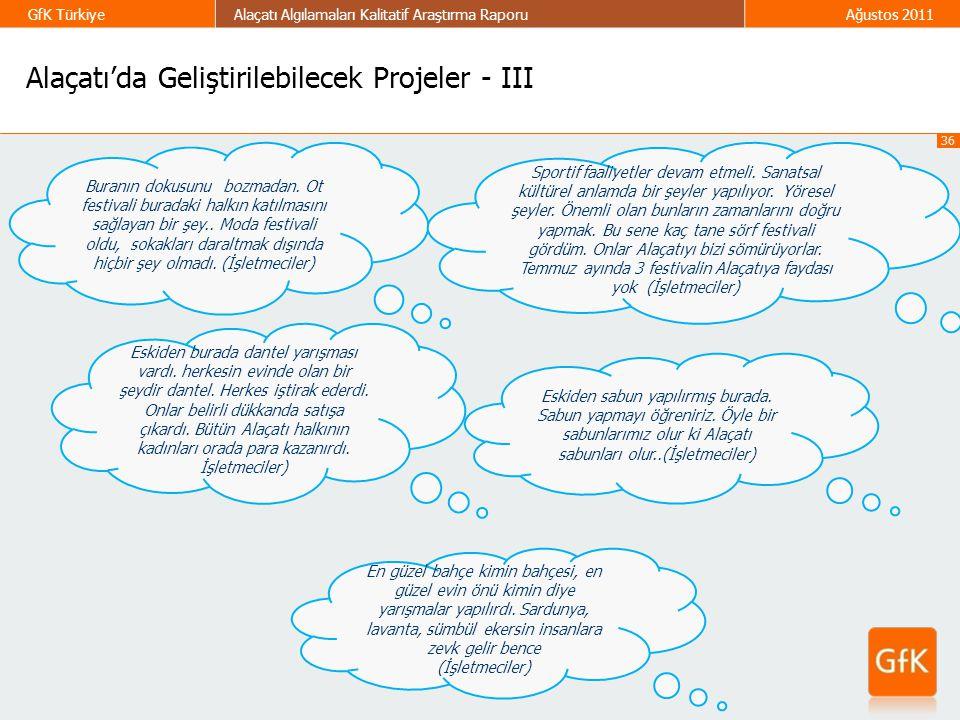 Alaçatı'da Geliştirilebilecek Projeler - III