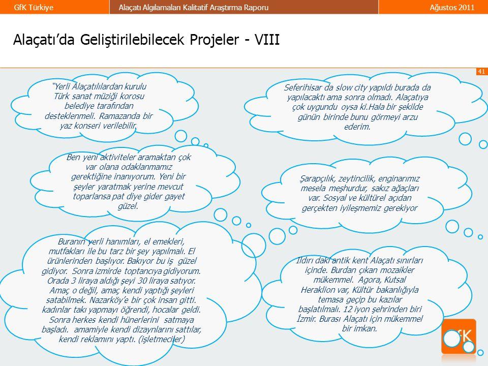 Alaçatı'da Geliştirilebilecek Projeler - VIII
