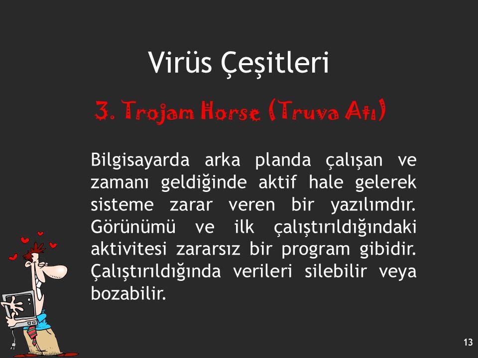 Virüs Çeşitleri 3. Trojam Horse (Truva Atı)