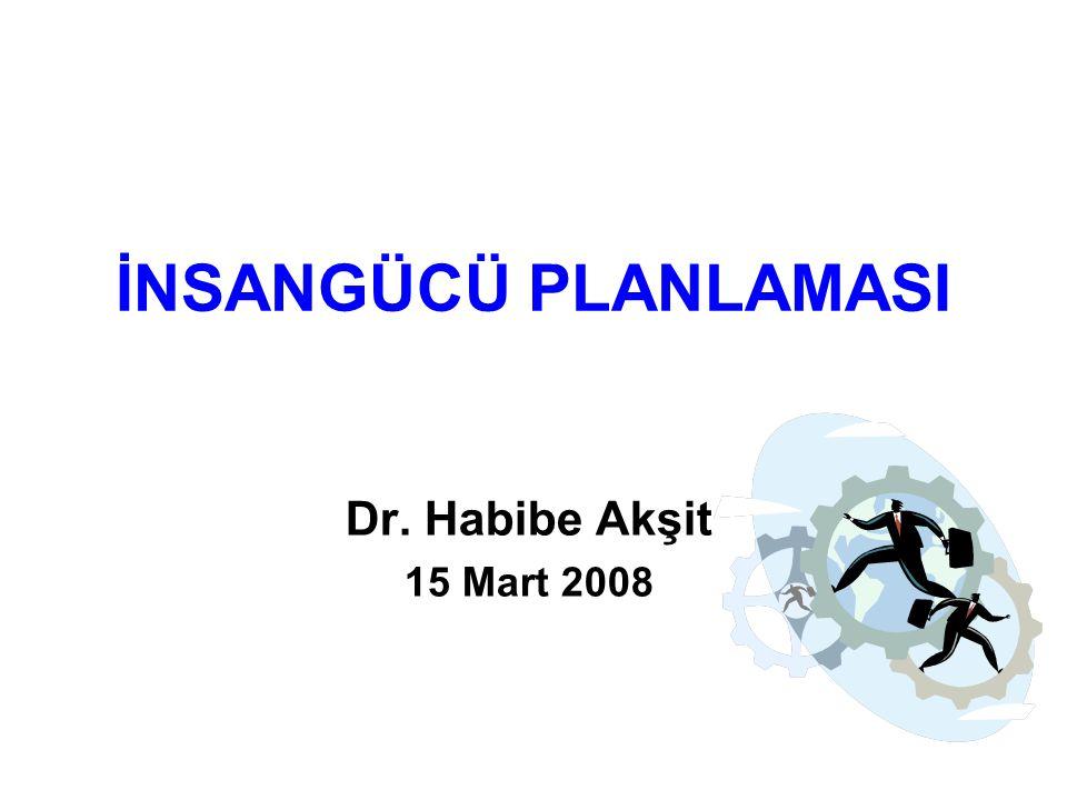 İNSANGÜCÜ PLANLAMASI Dr. Habibe Akşit 15 Mart 2008