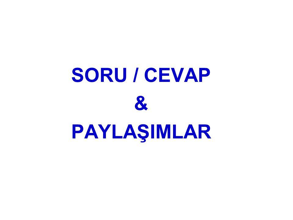 SORU / CEVAP & PAYLAŞIMLAR