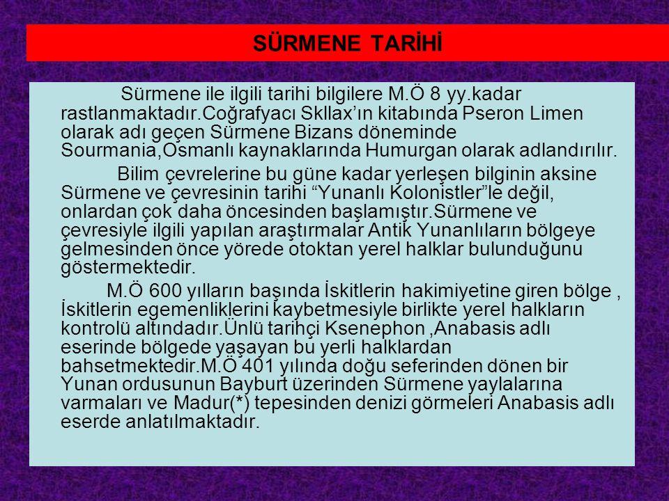SÜRMENE TARİHİ