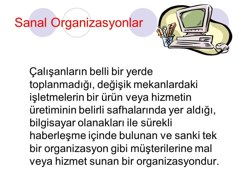 Sanal Organizasyonlar