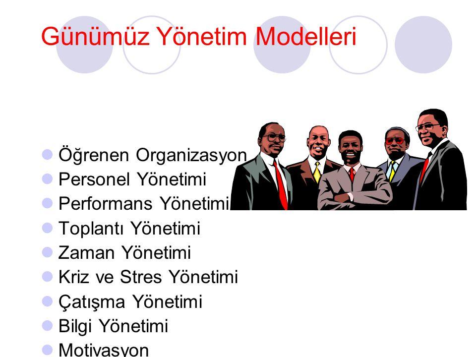 Günümüz Yönetim Modelleri