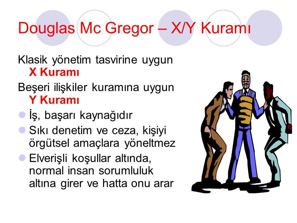 Douglas Mc Gregor – X/Y Kuramı