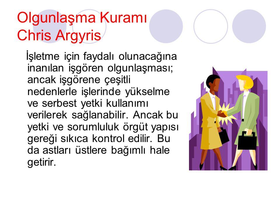 Olgunlaşma Kuramı Chris Argyris