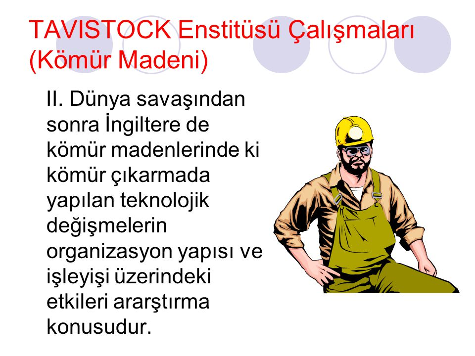 TAVISTOCK Enstitüsü Çalışmaları (Kömür Madeni)
