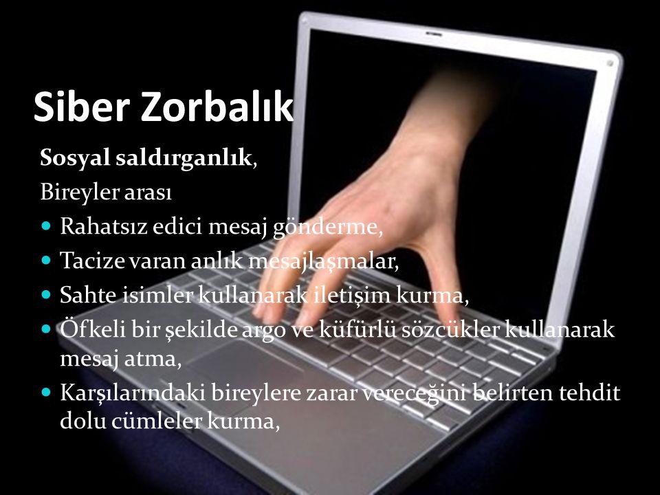 Siber Zorbalık Sosyal saldırganlık, Bireyler arası