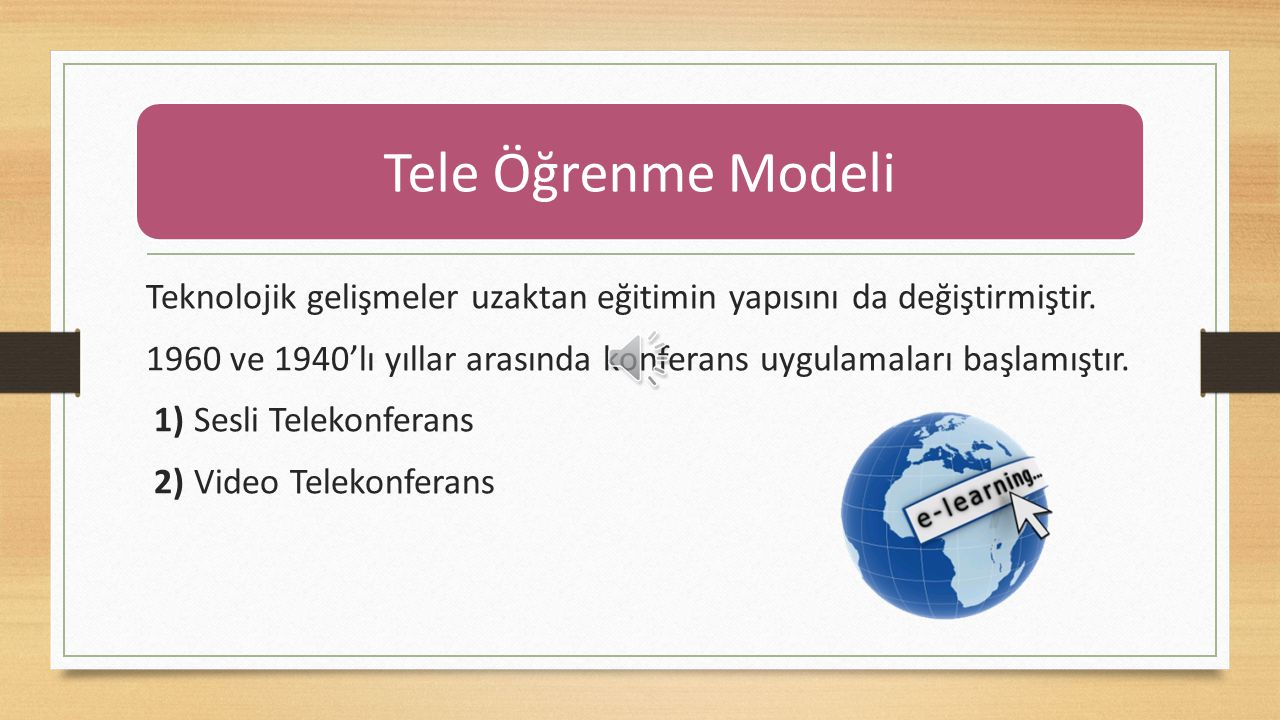 Tele Öğrenme Modeli