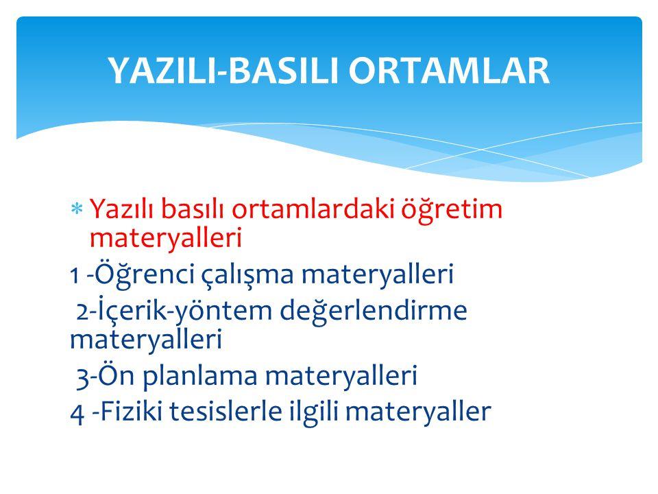 YAZILI-BASILI ORTAMLAR