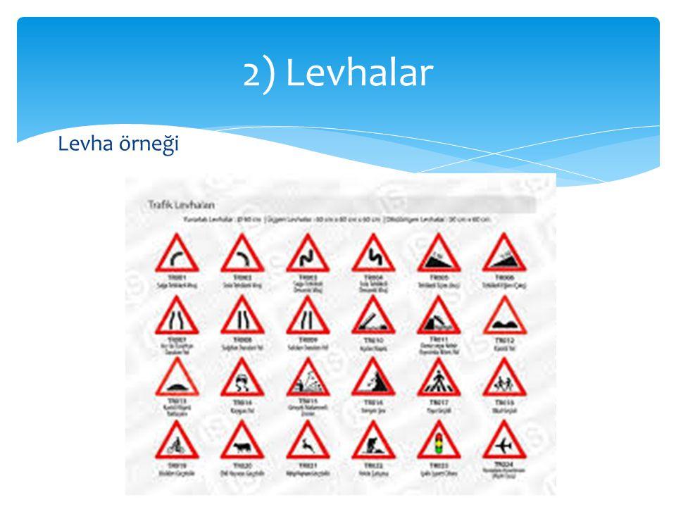 2) Levhalar Levha örneği