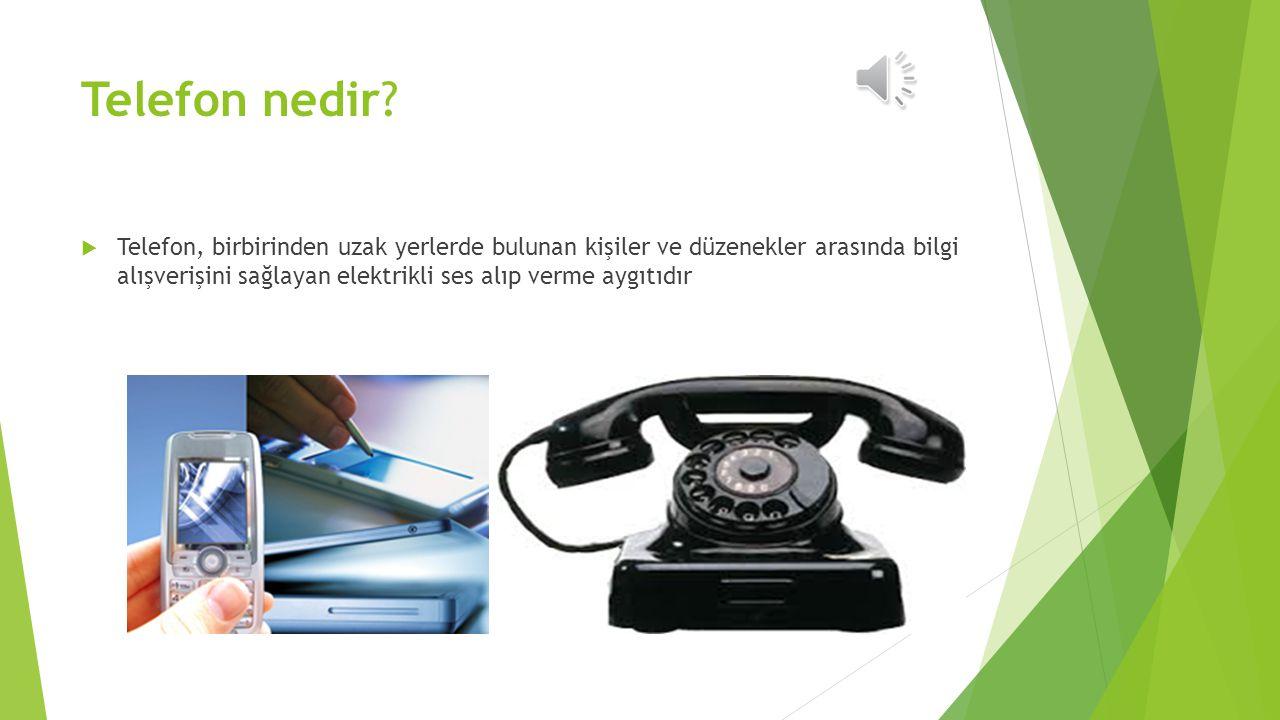 Telefon nedir