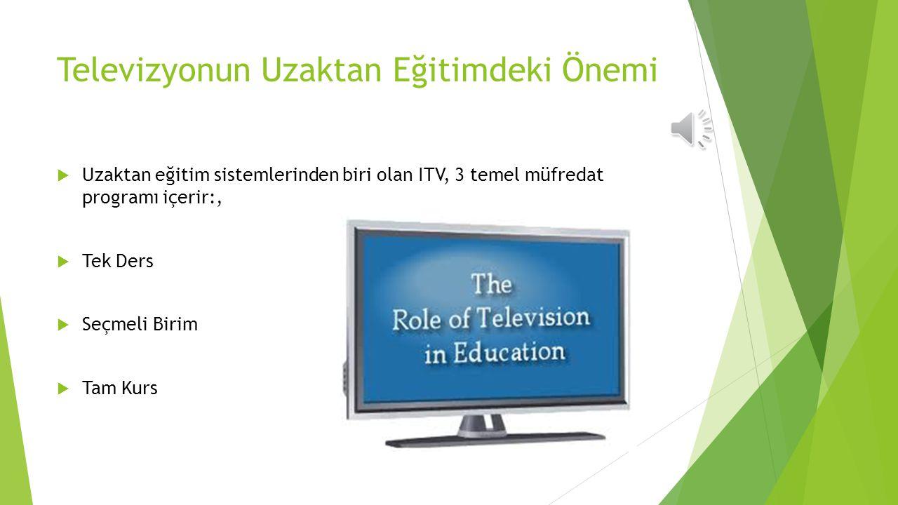 Televizyonun Uzaktan Eğitimdeki Önemi
