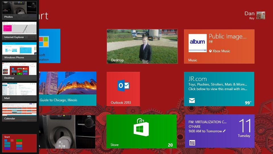 Windows 8 apps are full screen