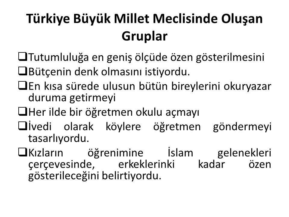 Türkiye Büyük Millet Meclisinde Oluşan Gruplar