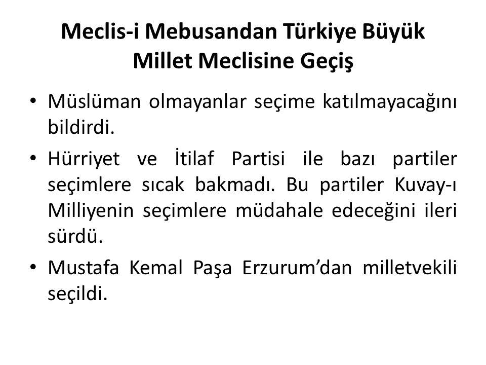 Meclis-i Mebusandan Türkiye Büyük Millet Meclisine Geçiş