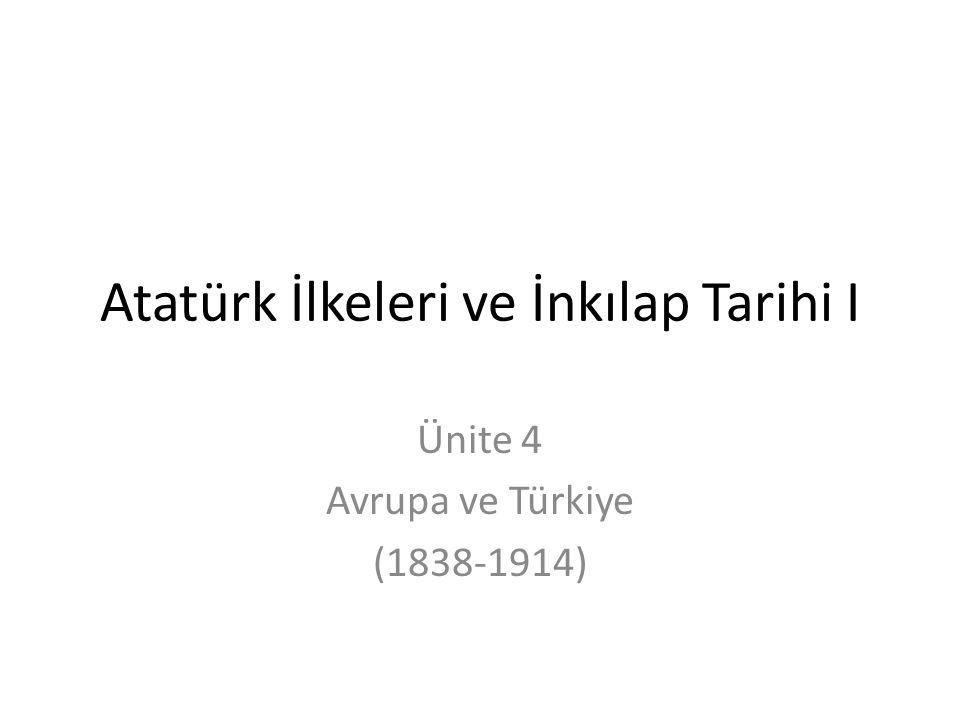 Atatürk İlkeleri ve İnkılap Tarihi I