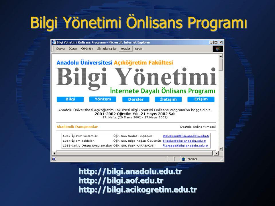 Bilgi Yönetimi Önlisans Programı