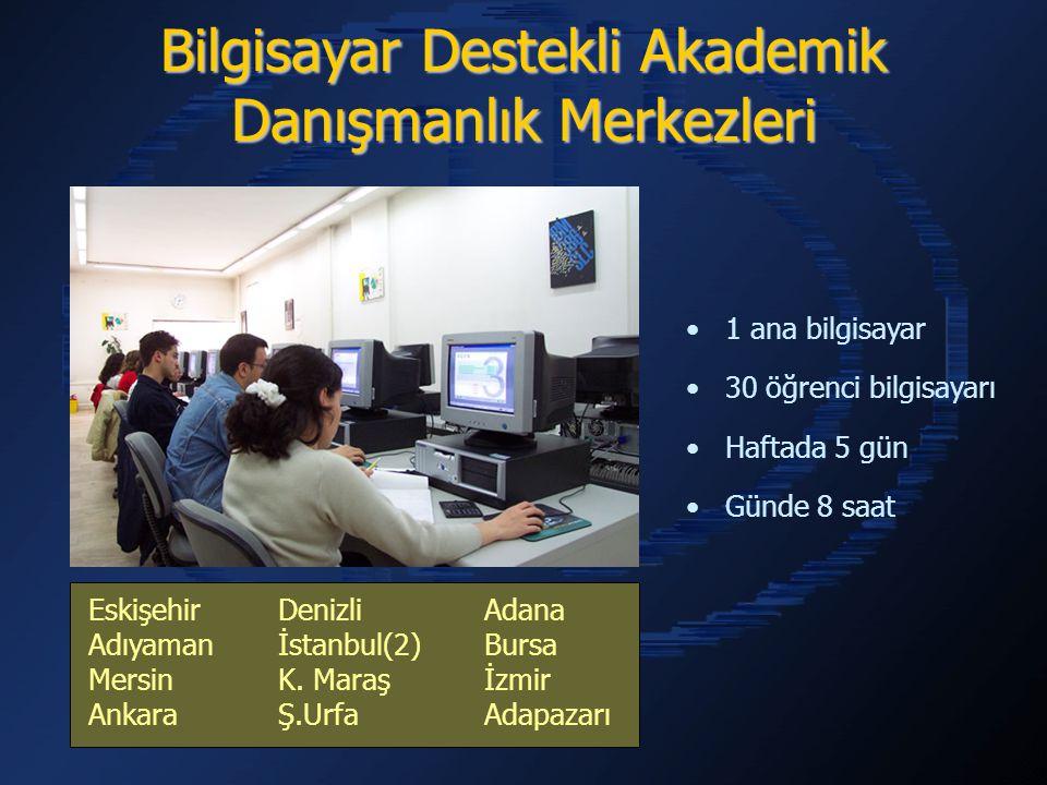 Bilgisayar Destekli Akademik Danışmanlık Merkezleri