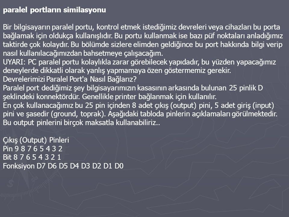 paralel portların similasyonu