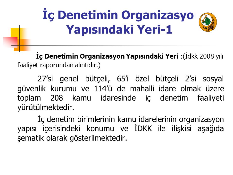 İç Denetimin Organizasyon Yapısındaki Yeri-1