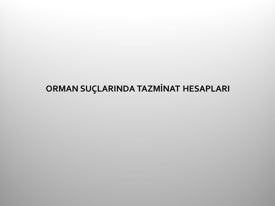 ORMAN SUÇLARINDA TAZMİNAT HESAPLARI