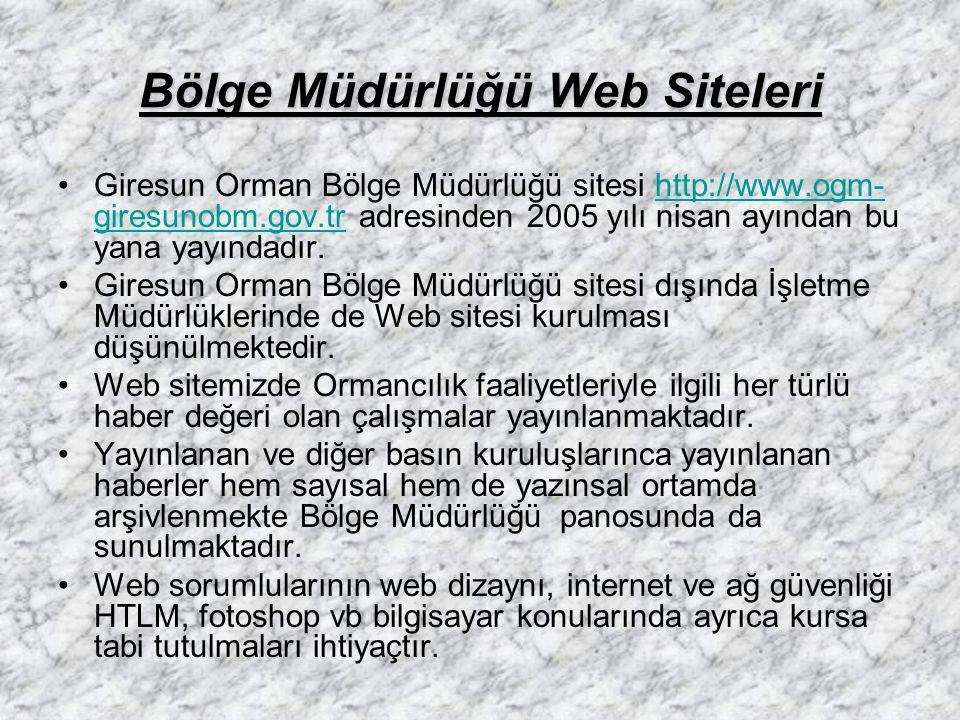 Bölge Müdürlüğü Web Siteleri