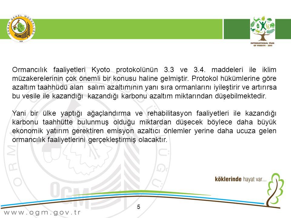 Ormancılık faaliyetleri Kyoto protokolünün 3. 3 ve 3. 4