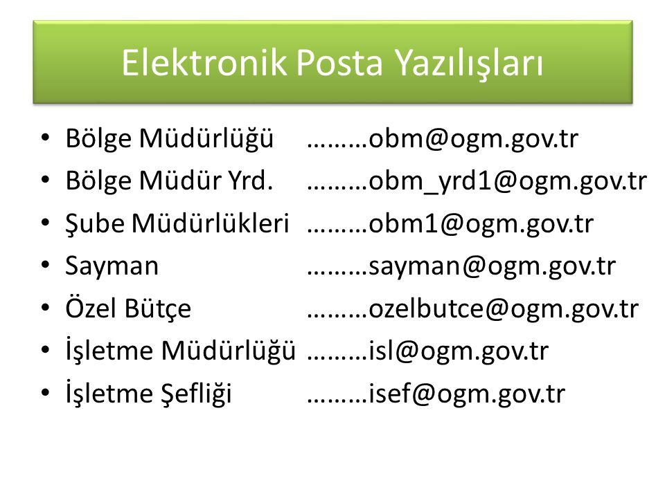 Elektronik Posta Yazılışları