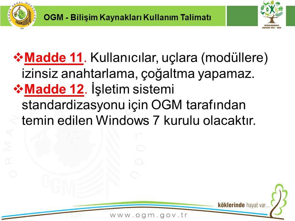 OGM - Bilişim Kaynakları Kullanım Talimatı