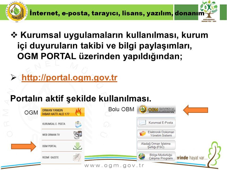 Portalın aktif şekilde kullanılması.
