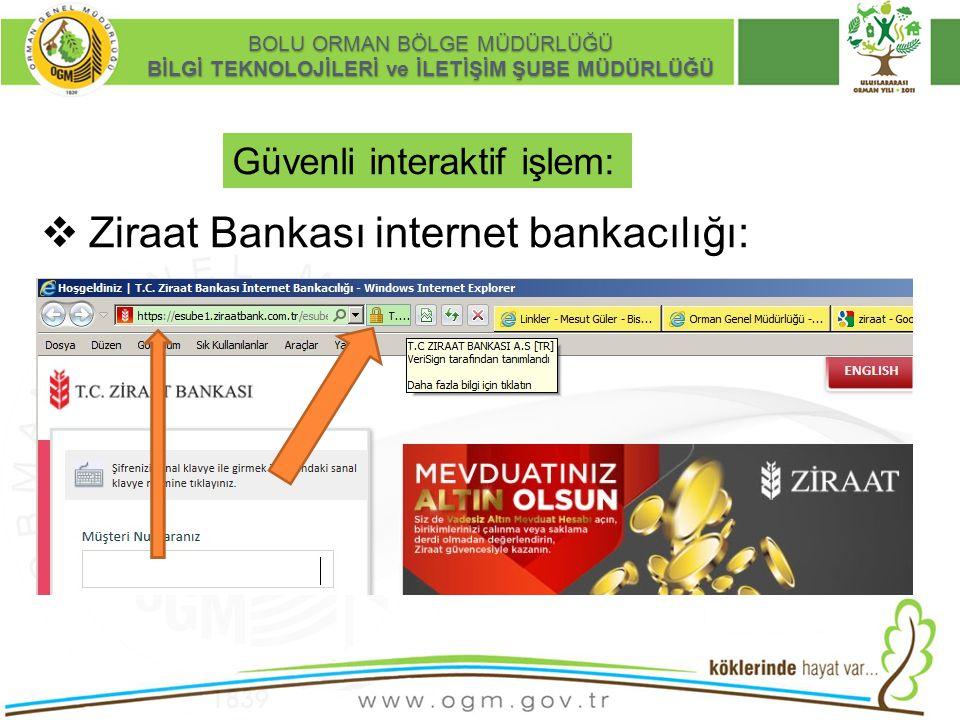 Ziraat Bankası internet bankacılığı: