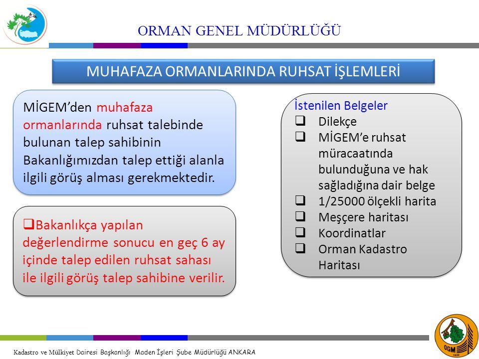 MUHAFAZA ORMANLARINDA RUHSAT İŞLEMLERİ