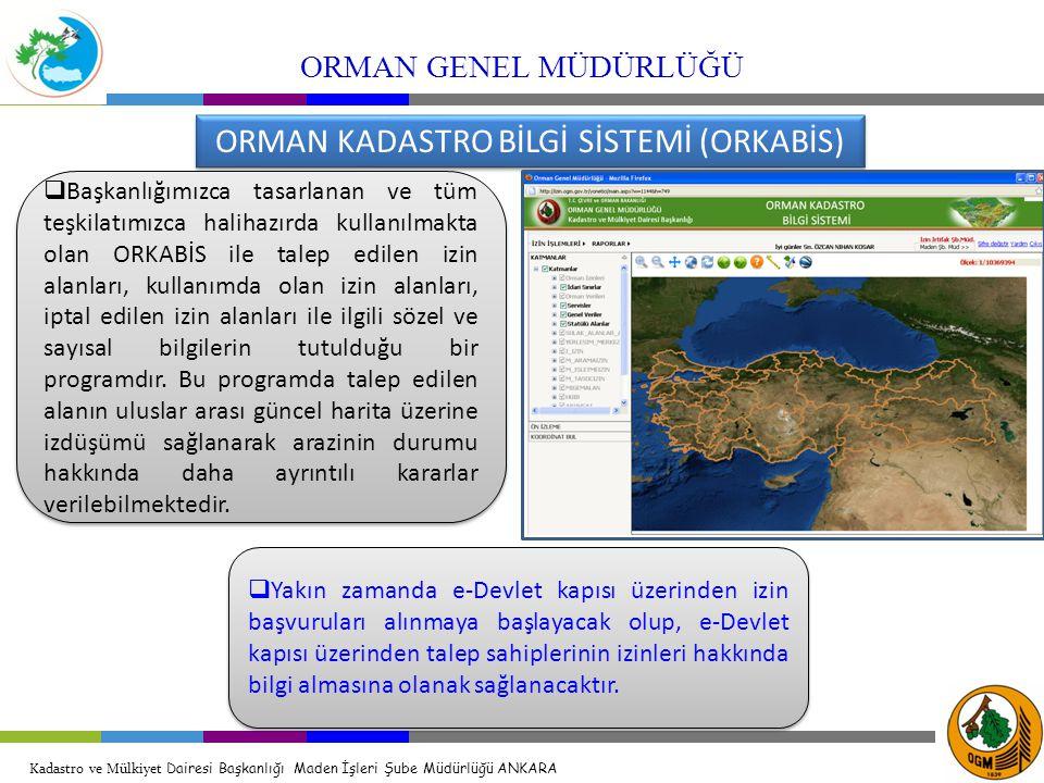 ORMAN KADASTRO BİLGİ SİSTEMİ (ORKABİS)