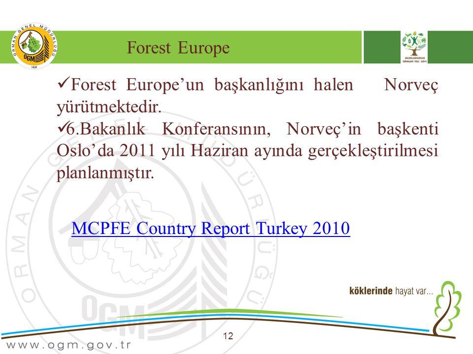 Forest Europe'un başkanlığını halen Norveç yürütmektedir.