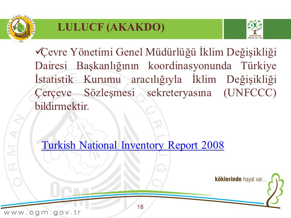 Turkish National Inventory Report 2008