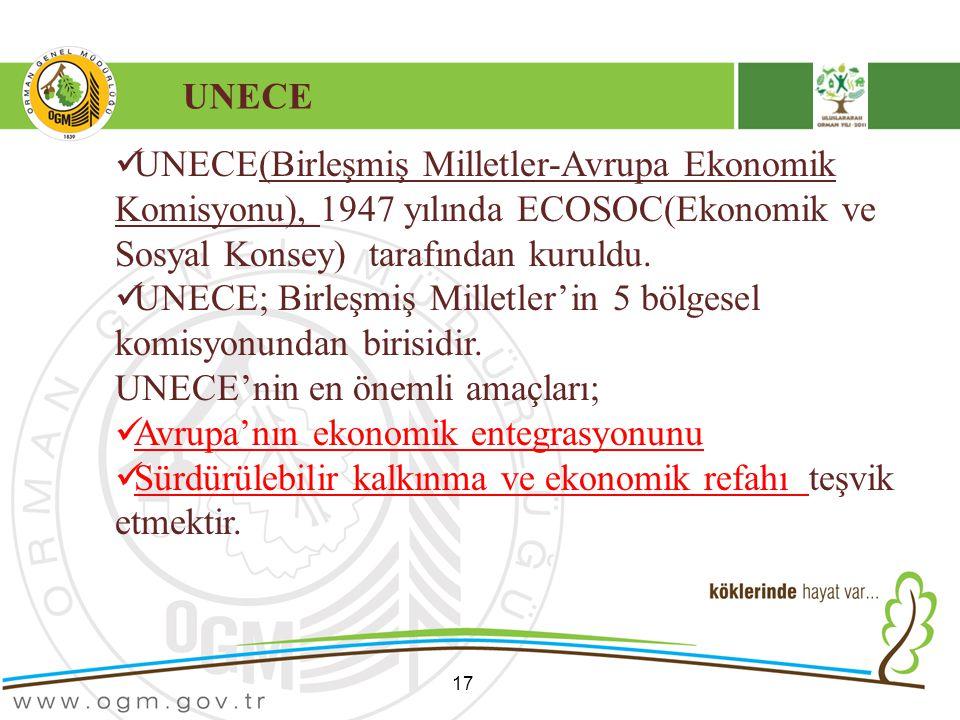UNECE; Birleşmiş Milletler'in 5 bölgesel komisyonundan birisidir.