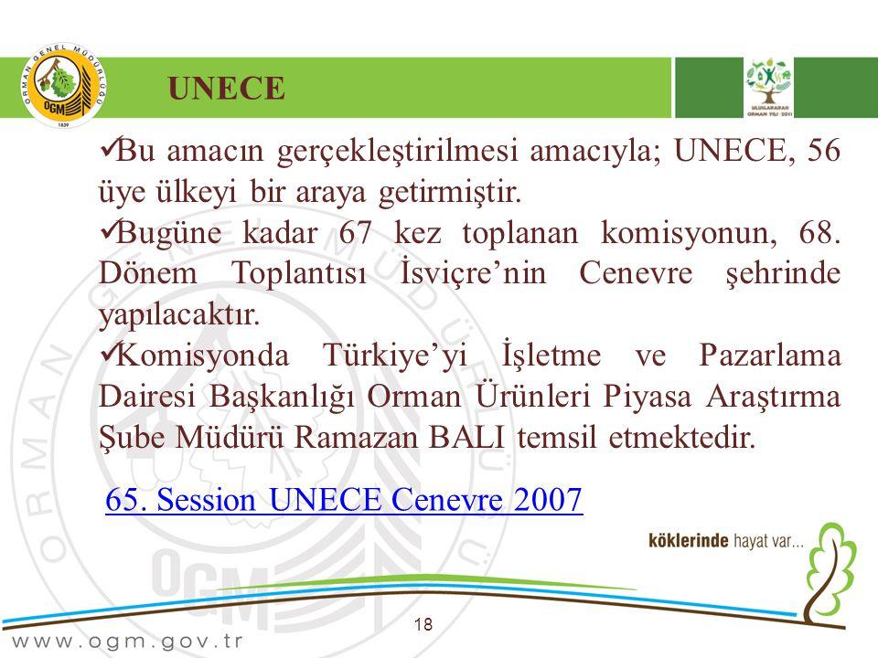 UNECE Bu amacın gerçekleştirilmesi amacıyla; UNECE, 56 üye ülkeyi bir araya getirmiştir.