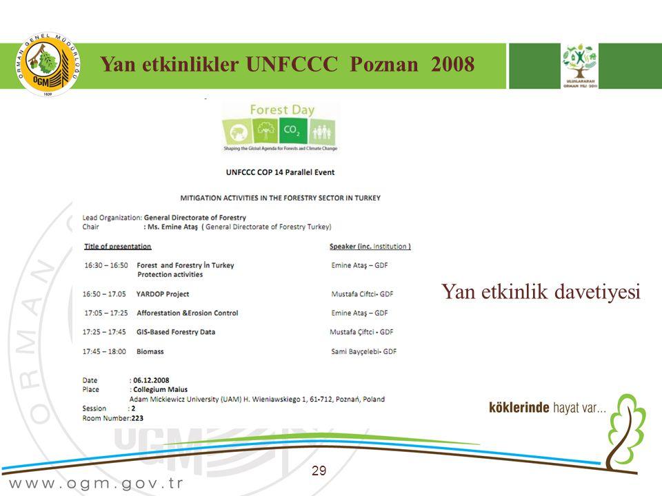 Yan etkinlikler UNFCCC Poznan 2008
