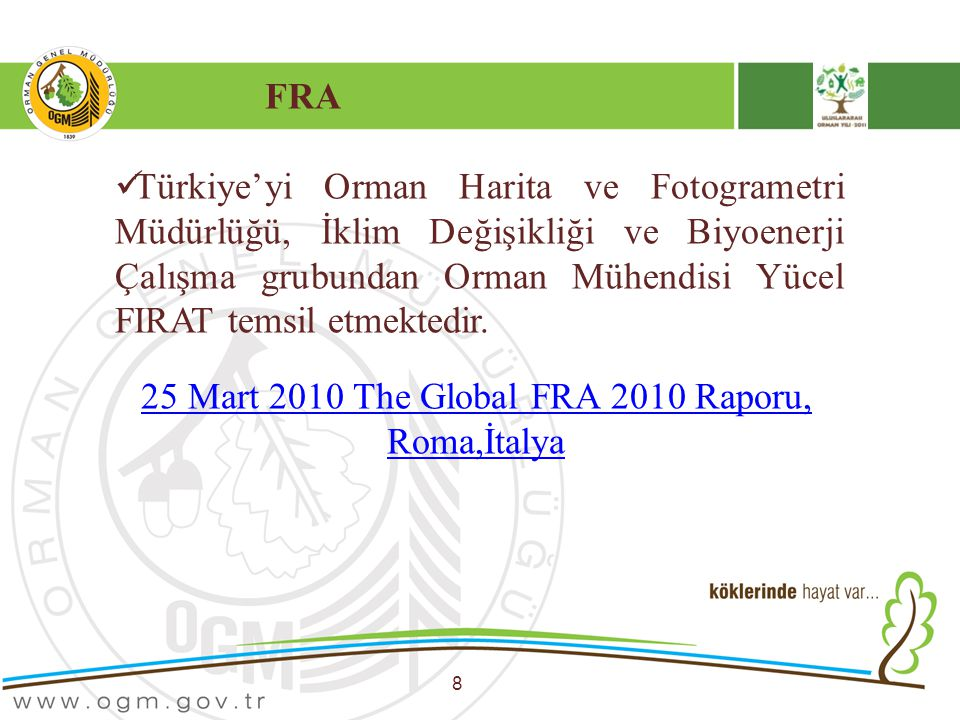 25 Mart 2010 The Global FRA 2010 Raporu, Roma,İtalya