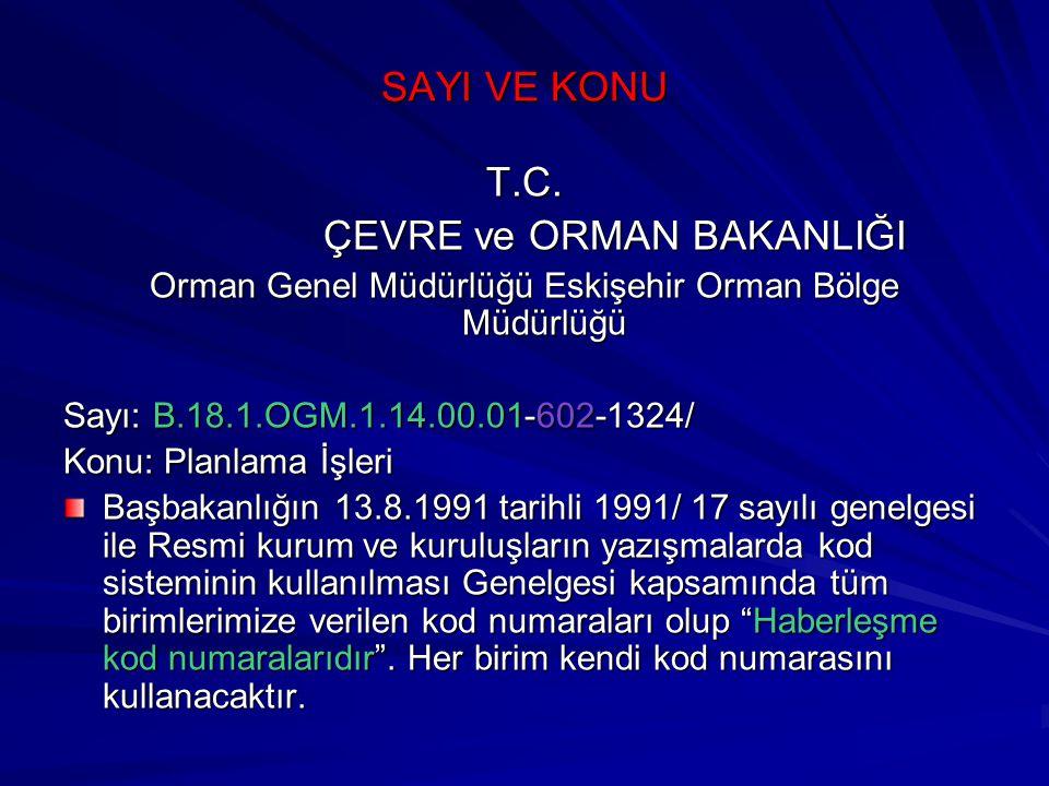 Orman Genel Müdürlüğü Eskişehir Orman Bölge Müdürlüğü