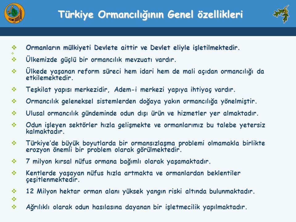 Türkiye Ormancılığının Genel özellikleri