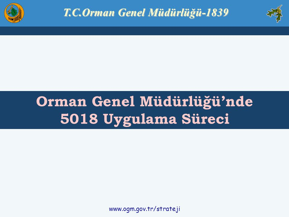 T.C.Orman Genel Müdürlüğü-1839 Orman Genel Müdürlüğü'nde