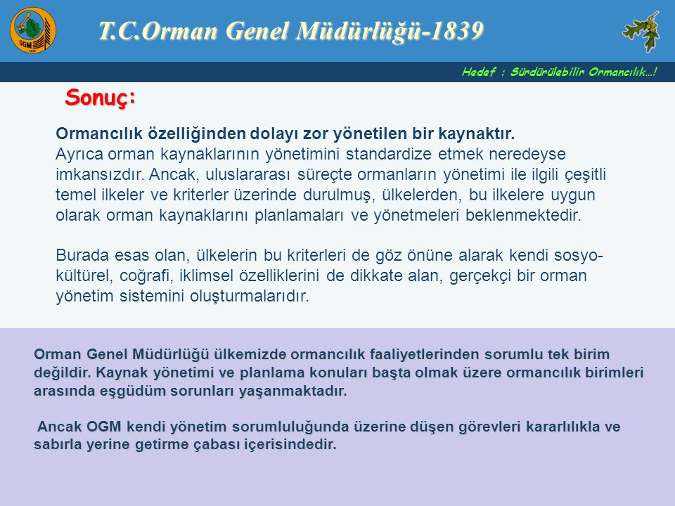T.C.Orman Genel Müdürlüğü-1839
