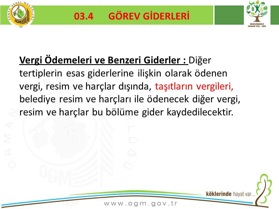 03.4 GÖREV GİDERLERİ Kurumsal Kimlik. 16/12/2010.