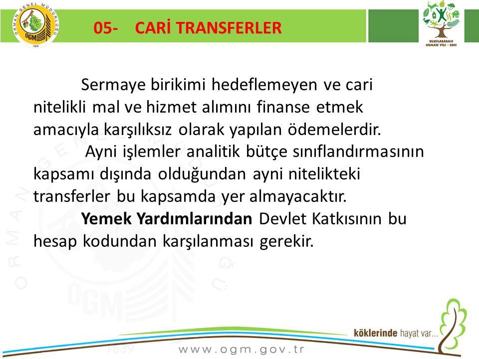 05- CARİ TRANSFERLER Kurumsal Kimlik. 16/12/2010.