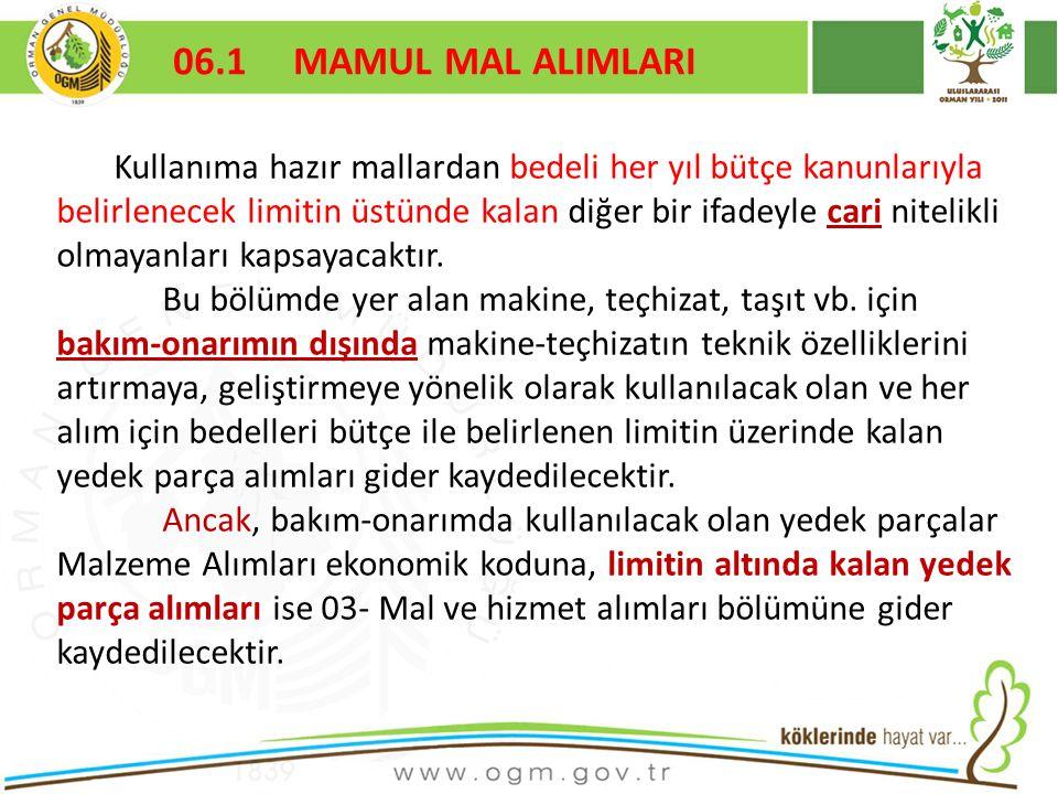 06.1 MAMUL MAL ALIMLARI Kurumsal Kimlik. 16/12/2010.
