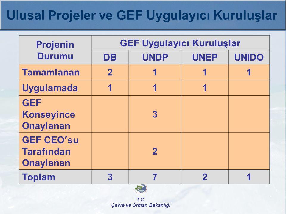 GEF Uygulayıcı Kuruluşlar Çevre ve Orman Bakanlığı